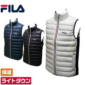 フィラゴルフ トリコロール ダウンベスト フリース素材とダウンで暖かく保温 軽くて動きやすいダウンベスト メンズ ゴルフウェア FILA Golf 786-209 outlet