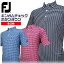 【2017年新作】Footjoy ギンガムチェック ボタンダウン ポロシャツ 85006 吸汗速乾・抗菌防臭・4WAYストレッチの高性…