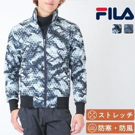 フィラ ゴルフ メンズ 長袖 ボンディングジャケット 和柄がおしゃれな機能性ジャケット ストレッチ 防寒 防風 FILA 787269 防寒