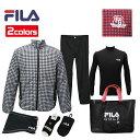 FILA 2019年モデル 新春 福袋 6点セット+バッグ付き メンズ フィラ ゴルフ 男性用 シンプルで合わせやすい トータル…