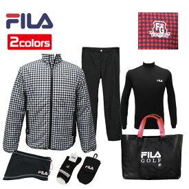 FILA 2019年モデル 新春 福袋 6点セット+バッグ付き メンズ フィラ ゴルフ 男性用 シンプルで合わせやすい トータルコーディネート 選べる2カラー 【16P5】