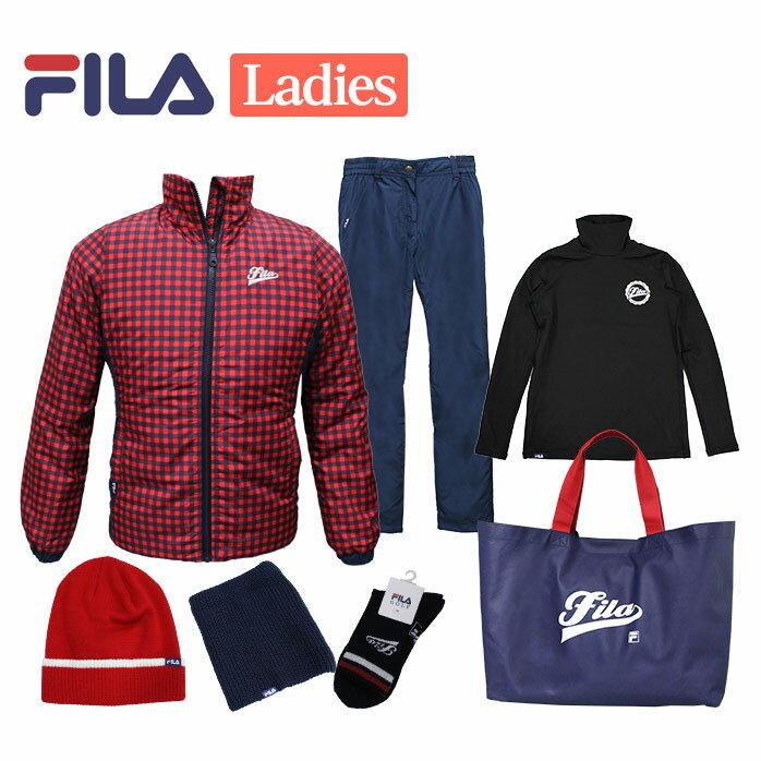 FILA 2019年モデル 新春 福袋 6点セット+バッグ付き レディース フィラ ゴルフ 女性用 【16P5】