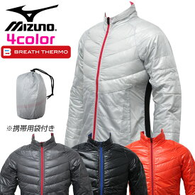 ミズノ ゴルフ レディース ダウンジャケット 長袖 動きやすい ブレスサーモ 暖かい 伸縮 MIZUNO 52ME5710