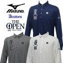 ミズノ MIZUNO ゴルフ ウェア メンズ ポロシャツ 長袖 大会イメージデザイン The Open 全英オープン 全3色 52JA4642
