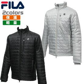 フィラ ゴルフ メンズ ブルゾン 中綿 保温 軽量 薄手 畳める ダブルジップ 逆開 FILA 789-231G