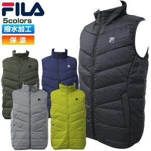 フィラ ゴルフ メンズ ダウンベスト ダウン80% フェザー20% 撥水加工 保温 シンプル フルジップ FILA 780-222