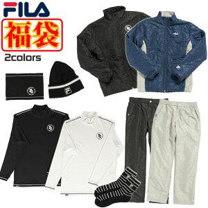フィラ ゴルフ 福袋 2021年 メンズ 7点セット 中綿ブルゾン パンツ インナー キャップ ネックウォーマー 靴下 カモフラ柄 バック付き FILA 780100