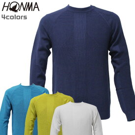 ホンマ ゴルフ メンズ 長袖 セーター クルーネック TOWN&TURF 本間 931-733203 HONMA