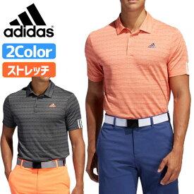 アディダス ゴルフ メンズ メランジジャカード 半袖 ポロシャツ adidas