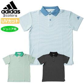 アディダス ゴルフ ウエア ボーイズ マイクロストライプ 半袖 ポロシャツ BOYS ジュニア アッシュブルー ハイレゾグリーン ブラック 20SS EKF31 adidas