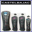 CastelBajac カステルバジャック『CIRCUS』 ヘッドカバー【ブラック】4点セット DR(23601-308)x1本,FW(23601-309)x2...