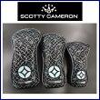 【送料無料】ScottyCameronLIMITEDGEOLUXHeadCoverBlack&TiFFANYBLUEスコッティキャメロンヘッドカバー3点セット『DRx1,FWx1,UTx1』ブラック&ティファニーブルー
