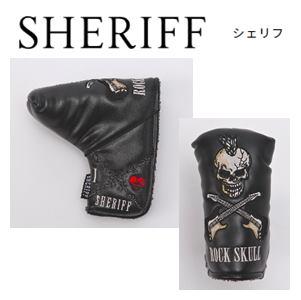 SHERIFF SKULL SERIES Head Cover シェリフ スカルシリーズ 『ブレードタイプ』 パターカバー 【ブラック】SFS-005