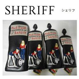 【送料無料】SHERIFF AMERICAN SERIES Head Cover シェリフ アメリカンシリーズ ヘッドカバー4点セット【ブラック】『DRx1本,FWx2本,UTx1本』SFA-011