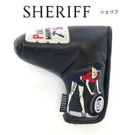 SHERIFF AMERICAN SERIES PUTTER Cover シェリフ アメリカンシリーズ パターカバー【ブラック/ブレード】 ヘッドカバー SFA-011