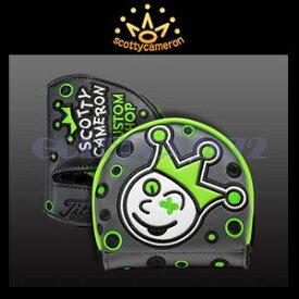 Scotty Cameron Head Cover-Jackpot Johnny Charcoal/Lime スコッティキャメロン カスタムショップヘッドカバー ミッドラウンド ジャックポットジョニー『チャコール/ライム』