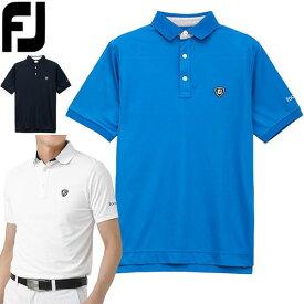 フットジョイ ゴルフウェア メンズ カラーブロック クーリングカノコ 半袖ポロシャツ FJ-S20-S21 2020年春夏モデル M-XL 【あす楽対応】