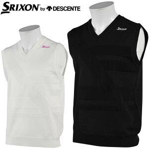 スリクソン by デサント メンズ ゴルフウェア Vネック ニットベスト RGMRJL81 2021年春夏モデル M-LL