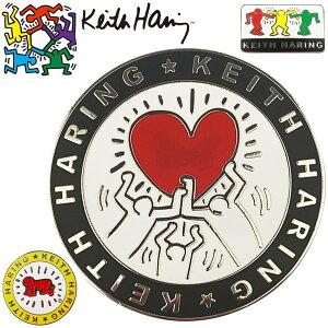 キースヘリング ゴルフ クリップマーカー 2個セット Holding Heart × Baby KHBM-01
