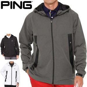 ピン メンズ ゴルフウェア ラミネート加工 防風 撥水 フルジップ フーディー ジャケット 621-1220002 M-LL 2021年秋冬モデル