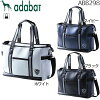 Boston Tote bag navy dark blue white white black black for the Ada bat adabat men tote bag ABB298 ◆ golf golf article golf bag golf Thoth Thoth golf Boston bag bag man