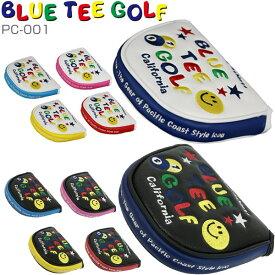 誰でも10倍〜・Rカードで14倍〜[SALE価格]ブルーティーゴルフ スマイル&ピンボール パターカバー マレットタイプ PC-001