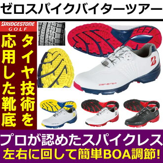Bridgestone SHG650 zero spikes by tha tour mens golf shoes