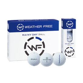(あす楽対応)キャスコ Kasco ゴルフボール WEATHER FREE 雨用ボール 38666 1ダース 12個入り ウェザーフリー ユニセックス 2020年【ASU】