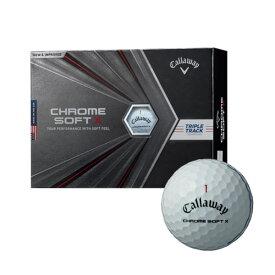 (あす楽対応)キャロウェイゴルフ クロムソフト X トリプル・トラック ゴルフボール 1ダース(12球入り) 2020年モデル CHROME SOFT X TRIPLE TRACK (即納)【ASU】