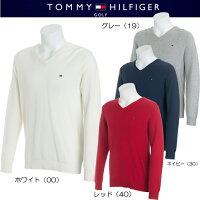 トミーヒルフィガーゴルフベーシックVネックニットセーター【THMA803】2017春夏モデル