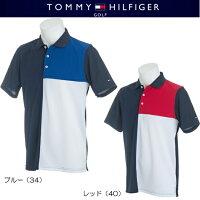 トミーヒルフィガーゴルフパネルブロッキング半袖ポロシャツ【THMA814】2018春夏モデル