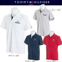 トミーヒルフィガーゴルフバックカラーロゴ半袖ポロシャツSLIMFIT【THMA826】2018春夏モデル