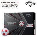キャロウェイ クロム ソフト X トゥルービス RED ボール 1ダース(12球)2020 ホワイト
