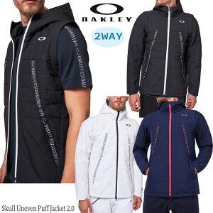 (セール)2020秋冬 オークリー ゴルフ スカル アンイーブン パフ ジャケット 2.0(FOA401647)フード付ジャケット 中綿ベスト