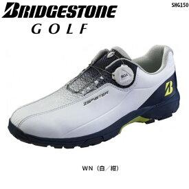 ブリヂストンゴルフ ゼロ・スパイク バイター ライト SHG150 WN(白/紺) スパイクレス ゴルフシューズ BOA