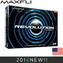マックスフライ Maxfli レボリューション ディスタンス ゴルフボール (12個入) MXB0010 【ゴルフ】