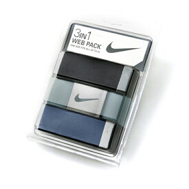 ナイキ メンズ ウェブベルト パック ブラック/ブルー/ネイビー (Nike Golf Men's Web Belt Pack) N184097 【ゴルフ】