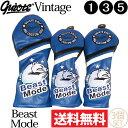 【送料無料】【即納】3個セット ギアット GUIOTE Vintage Beast Mode PUレザー ウッドヘッドカバー (#1・#3・#5) 刺…