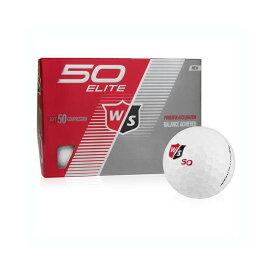 ウィルソン スタッフ フィフティ エリート ゴルフボール 超ソフトツーピースボール (Wilson Staff Fifty Elite Golf Balls) 12個入 WL9134WHT 【ゴルフ】