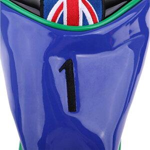 4個セット英国旗PUクリスタルレザーロングネックウッドヘッドカバー(#1・#3・#5・UT)AH033【ゴルフ】