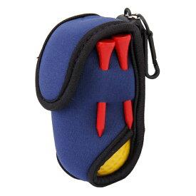 【ゆうパケット配送無料】 カラビナ付 ブルー ボールケース 2個収納可能 AH060 【ゴルフ】