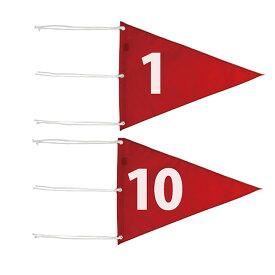 ライト M-110 ナイロン 三角旗 番手付 【サイズ:350×460mm】【ゴルフ】