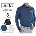 アディダス adidas ゴルフウェア メンズ 秋冬ウェア 長袖メンズウェア  CLIMACOOL UPF 長袖ポロシャツ 大きいサ…