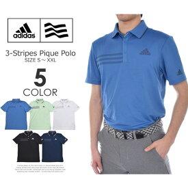 ゴルフウェア メンズ シャツ トップス ポロシャツ 春夏 おしゃれ (在庫処分)アディダス adidas ゴルフウェア メンズ メンズウェア 3ストライプ ピケ 半袖ポロシャツ 大きいサイズ USA直輸入 あす楽対応