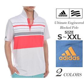 ゴルフウェア メンズ シャツ トップス ポロシャツ 春夏 おしゃれ (在庫処分)アディダス adidas ゴルフウェア メンズ CLIMACOOL アルティメット エンジニアード ブロック 半袖ポロシャツ 大きいサイズ USA直輸入 あす楽対応