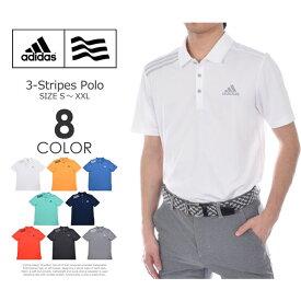 ゴルフウェア メンズ シャツ トップス ポロシャツ 春夏 おしゃれ (在庫処分)アディダス adidas ゴルフウェア メンズ メンズウェア 3ストライプ 半袖ポロシャツ 大きいサイズ USA直輸入 あす楽対応