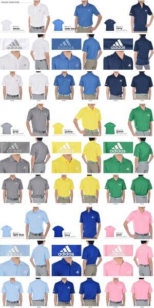 アディダスadidasゴルフウェアメンズメンズウェアパフォーマンスソリッド半袖ポロシャツ大きいサイズUSA直輸入あす楽対応