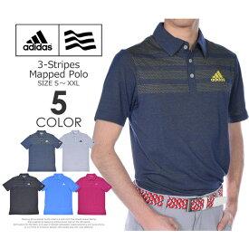 ゴルフウェア メンズ シャツ トップス ポロシャツ 春夏 おしゃれ (在庫処分)アディダス adidas ゴルフウェア メンズ メンズウェア 3ストライプ マップド 半袖ポロシャツ 大きいサイズ USA直輸入 あす楽対応