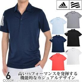 アディダス adidas ゴルフウェア メンズ メンズウェア 3ストライプ ベーシック 半袖ポロシャツ USA直輸入 あす楽対応