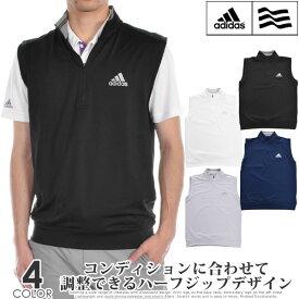 アディダス adidas ゴルフウェア メンズウェア おしゃれ ゴルフベスト クラシック クラブ 1/4 ジップ ベスト 大きいサイズ あす楽対応